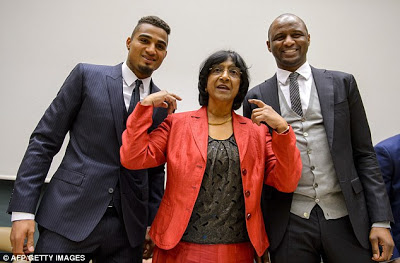 boateng,pillay and Viera against racism