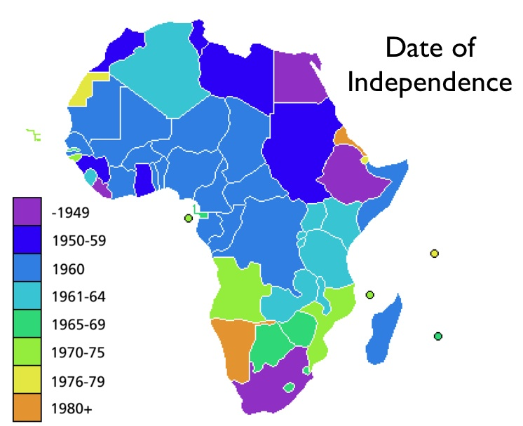 African Independence Map by www.geocurrent.info
