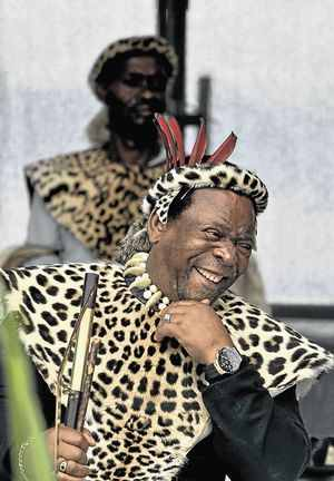 Zulu King Goodwill Zwelithini  Image by: TEBOGO LETSIE at www.timeslive.co.za